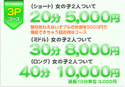 秋葉原限定コース! :普段味わえないダブルの快感を5000円で堪能